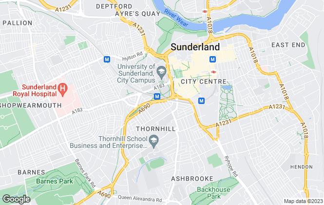 Map for Eight Estates , Sunderland