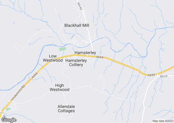 Map for Oakwell Court, Hamsterley Colliery, Newcastle Upon Tyne NE17