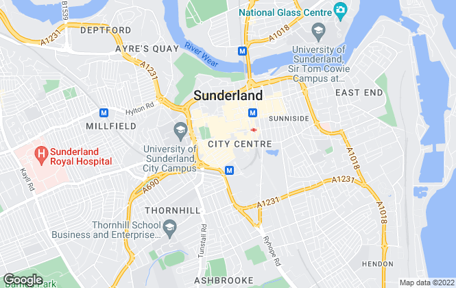 Map for Alfred Pallas, Sunderland