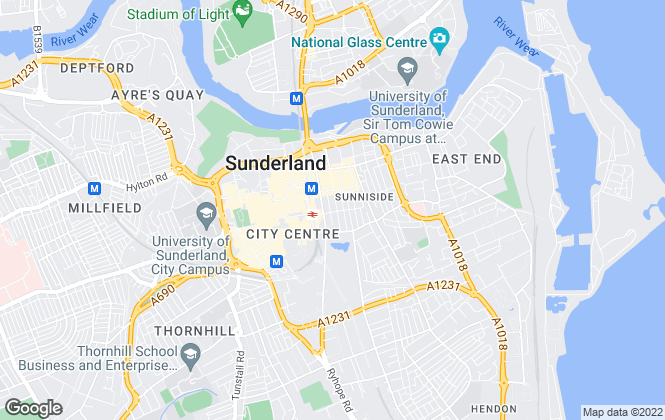 Map for YOUR MOVE, Sunderland