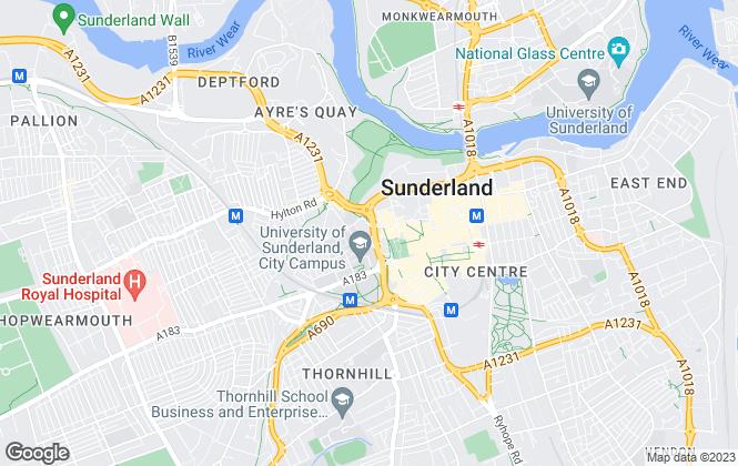 Map for Emily Charles Sales & Lettings, Sunderland