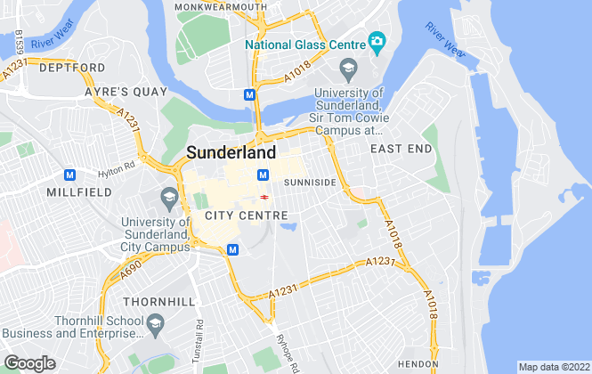 Map for Thomas Watson Estate Agents, Sunderland