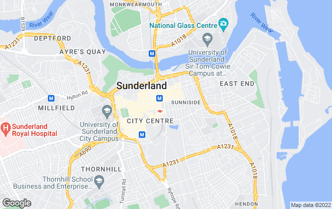 Map for Peter Heron Residential Sales and Lettings, Sunderland