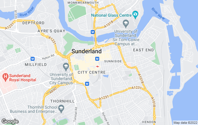 Map for Pattinson Estate Agents, Sunderland