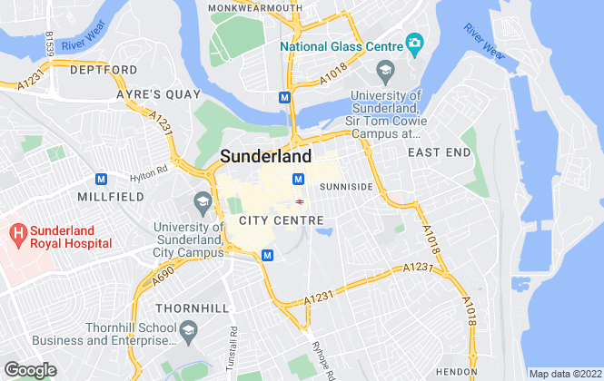 Map for Pattinson Estate Agents, Sunderland