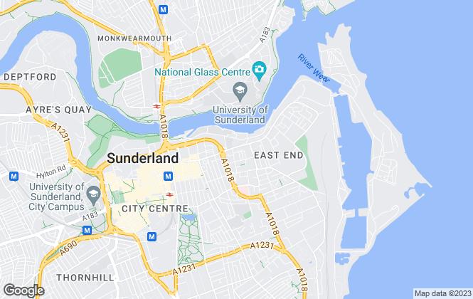 Map for Capulet Lettings, Sunderland