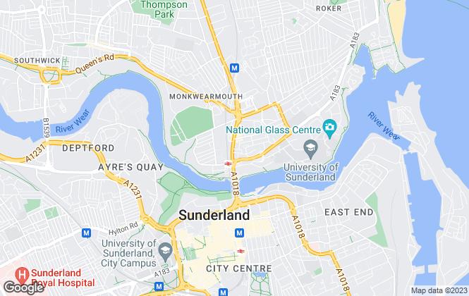 Map for Sunderland Accommodation Services, Sunderland
