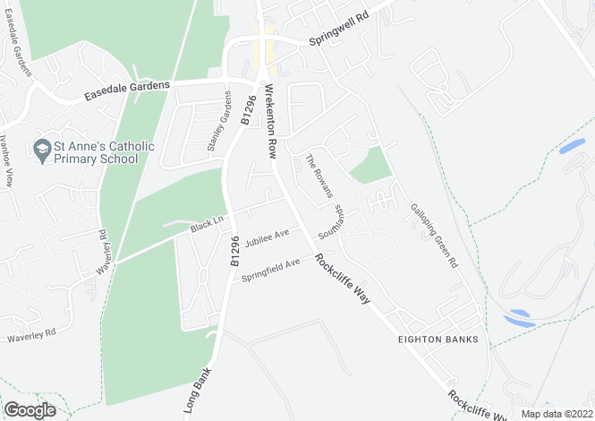 Map for Eighton Banks