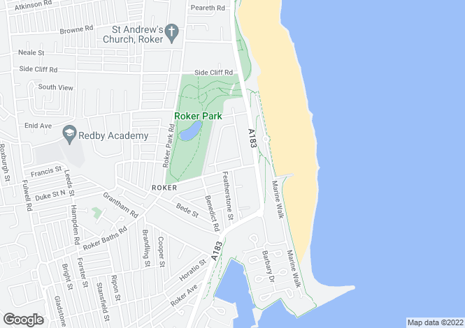 Map for St Georges Terrace, Roker