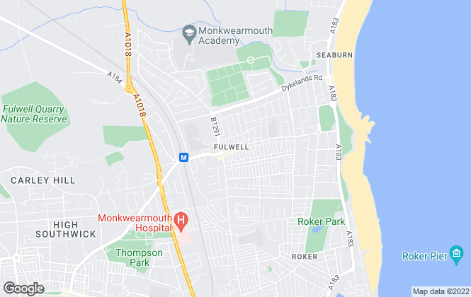 Map for Andrew Craig, Fulwell