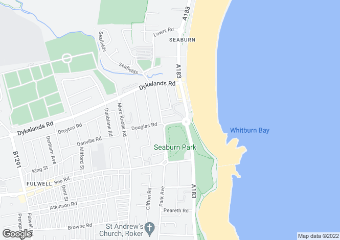 Map for Seaburn Terrace, Seaburn