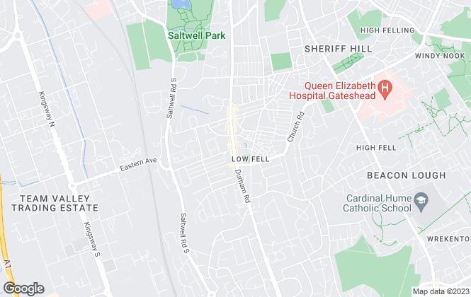 Map for Hunters, Gateshead