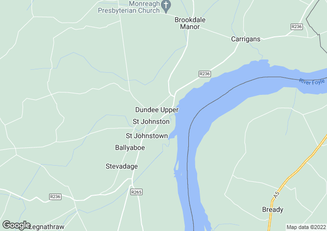 Map for 21 Ard Na Melia , St. Johnston, Donegal