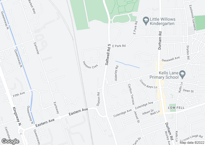 Map for Saltwell Road South,