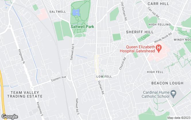 Map for Jan Forster Estates, Low Fell