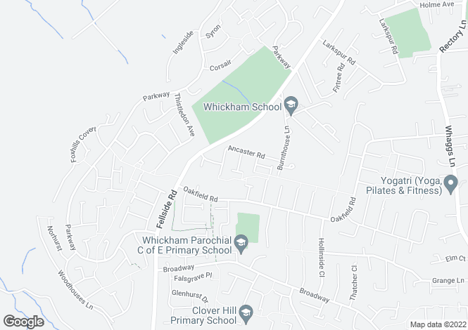 Map for Northfield Close, Whickham, Newcastle Upon Tyne, NE16