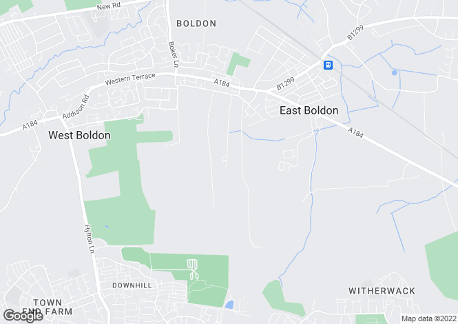 Map for East Boldon