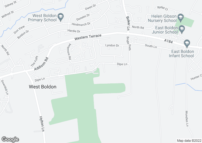 Map for Shotley Grove Dipe Lane, East Boldon NE36