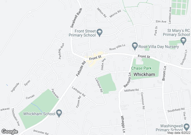 Map for Glebe Rise, Whickham, Newcastle upon Tyne, NE16 4LY