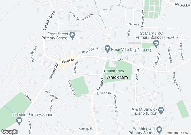 Map for Chase Court, Whickham, Whickham, Tyne and Wear, NE16 4NL