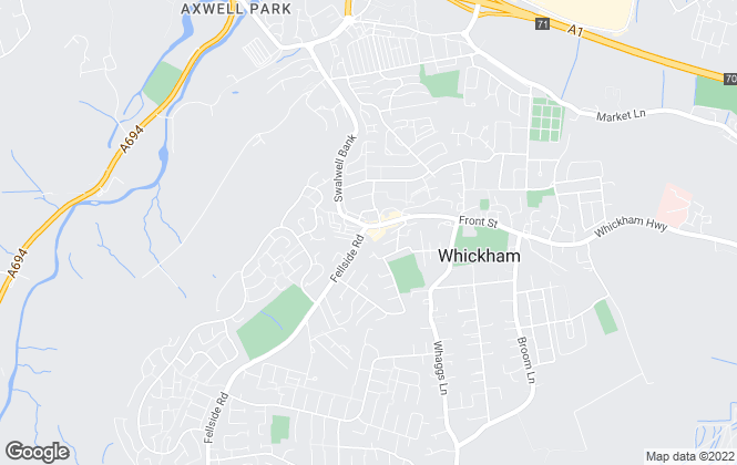 Map for Red Hot Property, Whickham