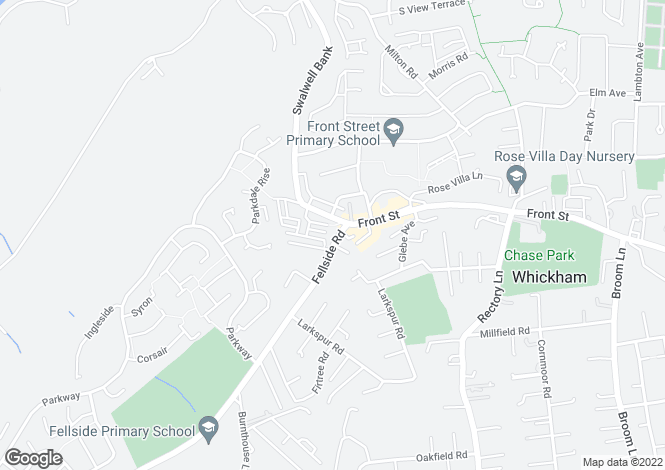 Map for Fellside Mews, Whickham, Whickham, Newcastle Upon Tyne