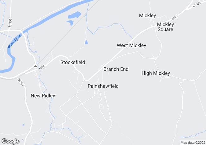 Map for New Ridley Road, Stocksfield