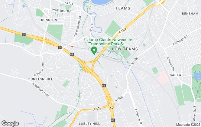 Map for Philip Gifford and Associates, Gateshead
