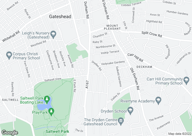 Map for Durham Road