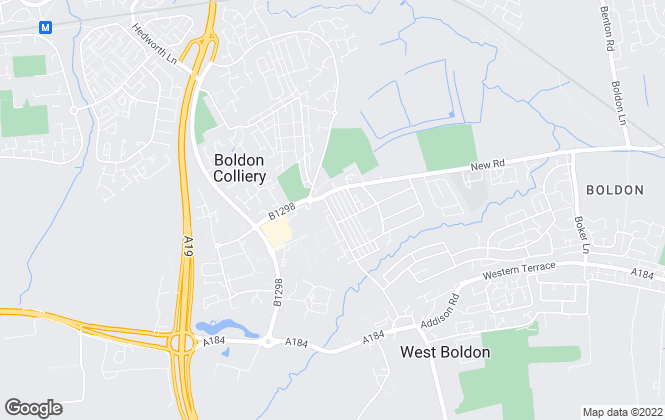 Map for Goldfinch Estate Agents, Boldon