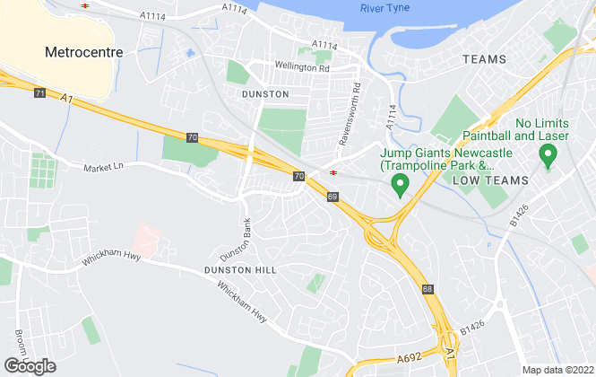 Map for Living Local , Dunston