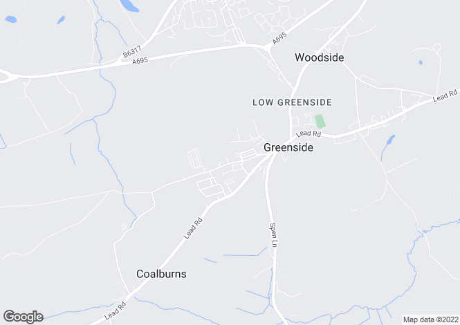 Map for Rockwood Hill Road, Greenside, Ryton NE40