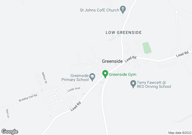 Map for Charlie Street, Greenside Ryton