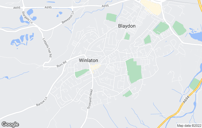 Map for Living Local , Blaydon
