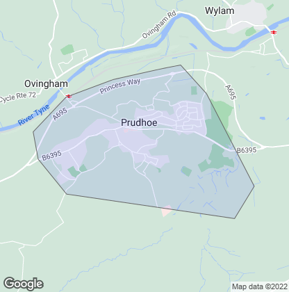 Map of property in Prudhoe