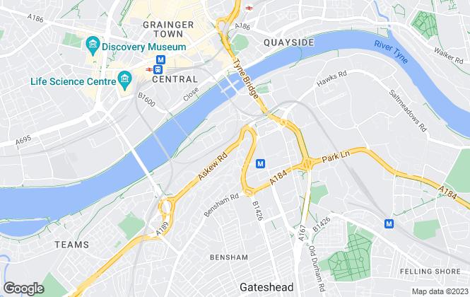 Map for Jam Jar Studios, Tyne And Wear