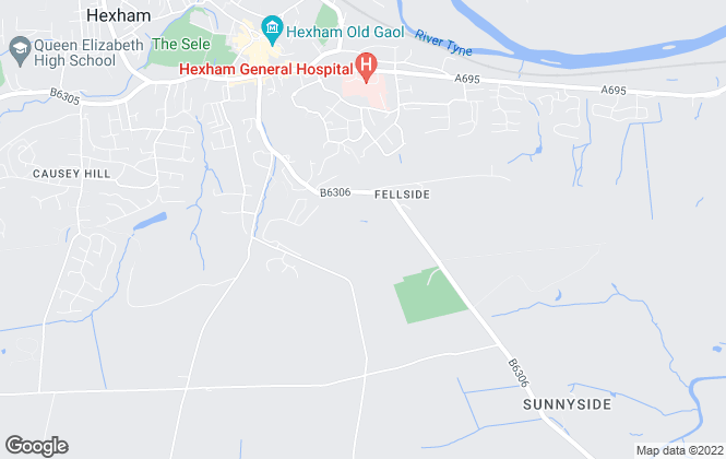 Map for Rook Matthews Sayer, Hexham