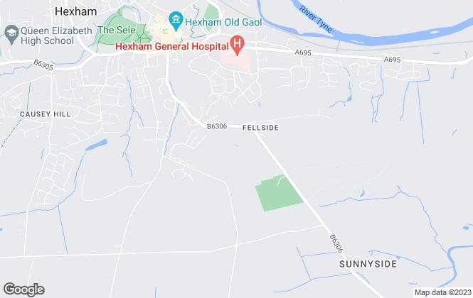 Map for Rook Matthews Sayer, Hexham