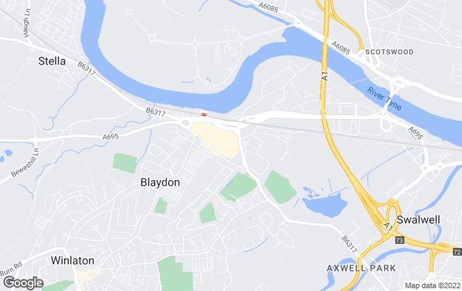 Map for Yellow Estate Agency, Blaydon-On-Tyne