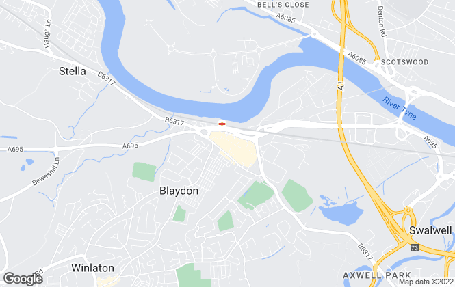 Map for We Can Group, Blaydon