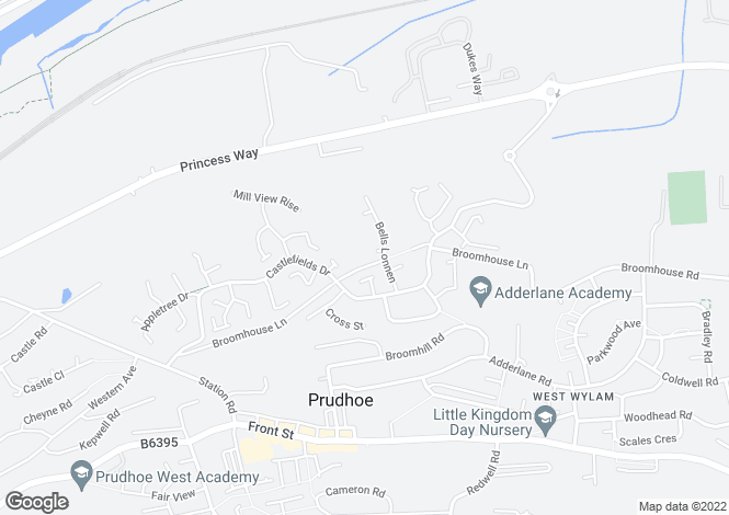 Map for Broomhouse Farm Court, Prudhoe NE42