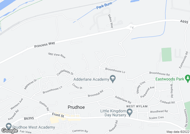 Map for Broom House Farm House Broomhouse Lane, Prudhoe, NE42