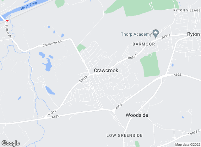 Map for J D Estates, Crawcrook