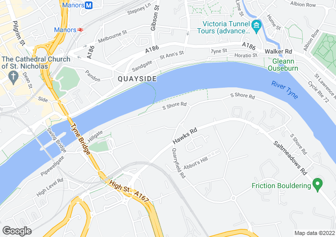 Map for Baltic Quays, Mill Road, Gateshead, Tyne & Wear