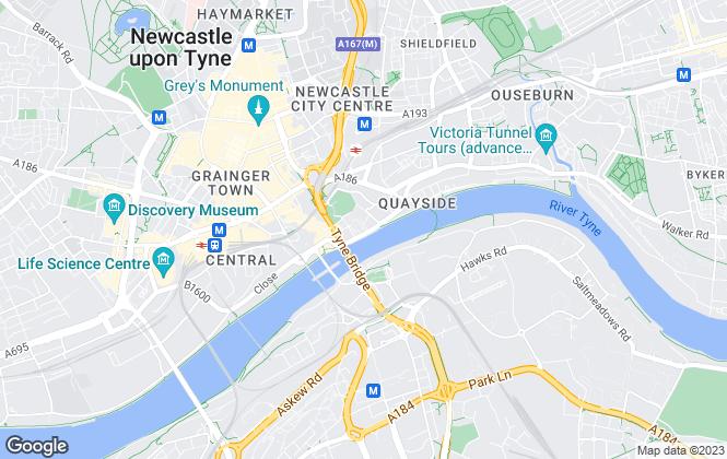 Map for Urban Base Executive , Newcastle