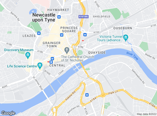 Map for Absolute Lettings, Newcastle upon Tyne