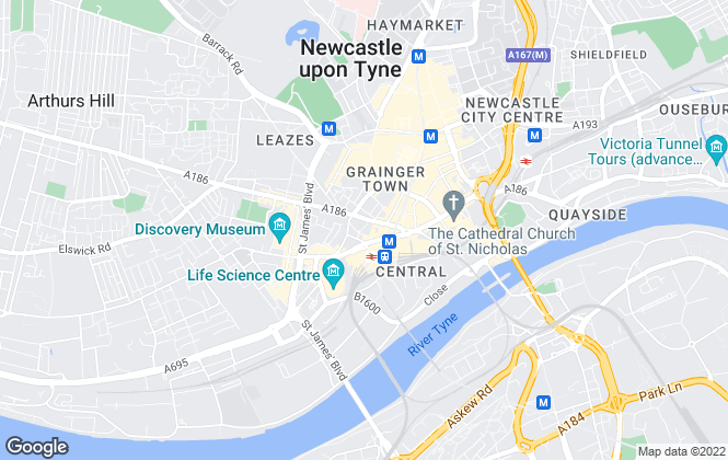 Map for Fabulets Ltd, Newcastle-Upon-Tyne