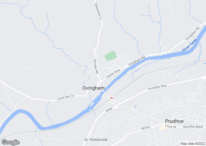 Map for Ovingham, Prudhoe