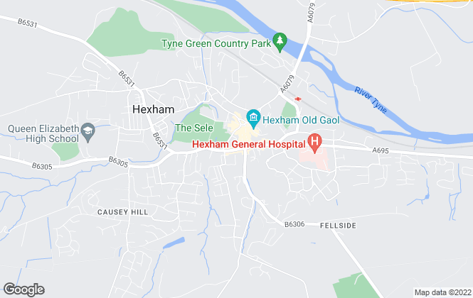 Map for Red Hot Property, Hexham