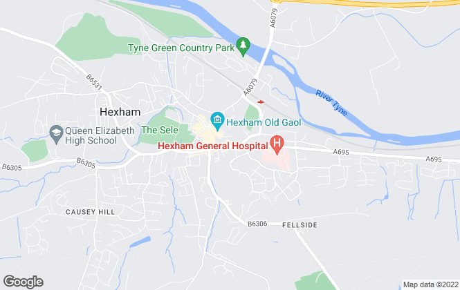 Map for Foster Maddison Property Consultants, Hexham